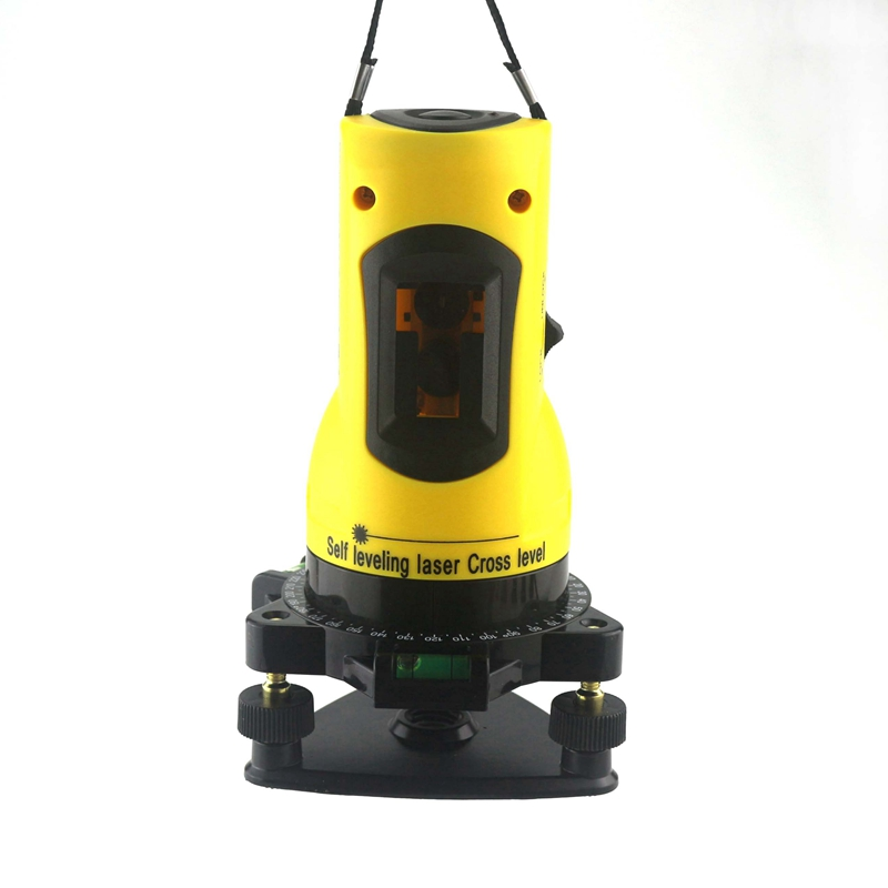 Ketotek Laser Level 650nm 2 Red Cross Lines  360 Rotary Degree Self- leveling Nivel Laser Diagnostic-tools Yellow free shipping laser marker lazer level 360 rotary self leveling tools 3 lines