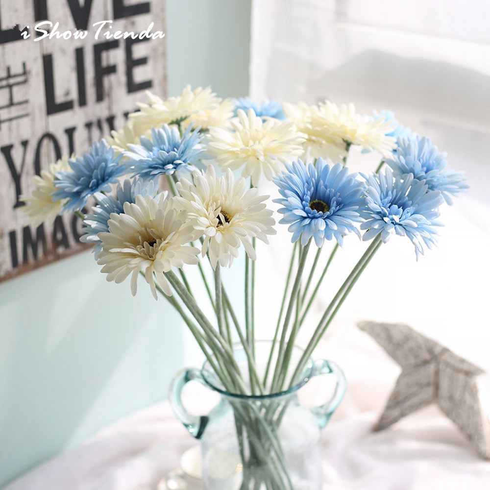 Hot Sale Ishowtienda 5pcs Chrysanthemum Artificial Fake Flowers Leaf