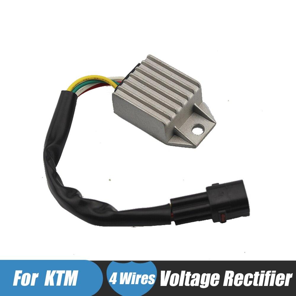 Black Motorcycle Voltage Rectifier Regulator For KTM 660 Smc 450 Exc Rh Aliexpress 2014 525 Xc: KTM 525 Exc Wiring Charging System At Sewuka.co