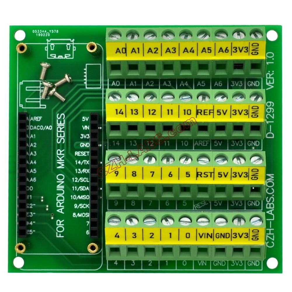 Placa de módulo de conexión de bloque de terminales de tornillo CZH LABS para MKR. Bloques terminales    - AliExpress