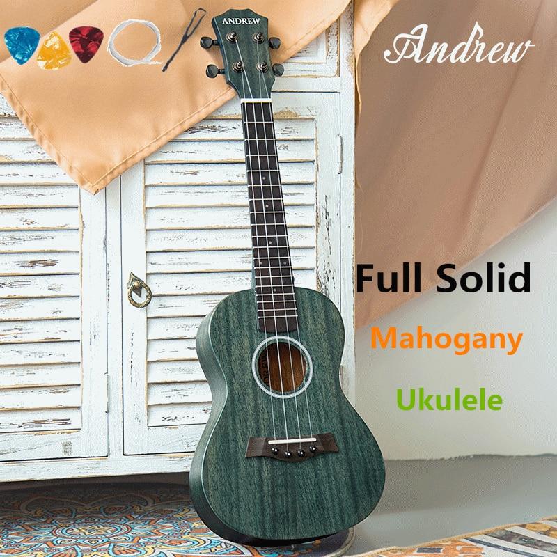 ukulele 23 inches full solid mahogany mini electric acoustic guitar 4 strings ukelele guitarra. Black Bedroom Furniture Sets. Home Design Ideas