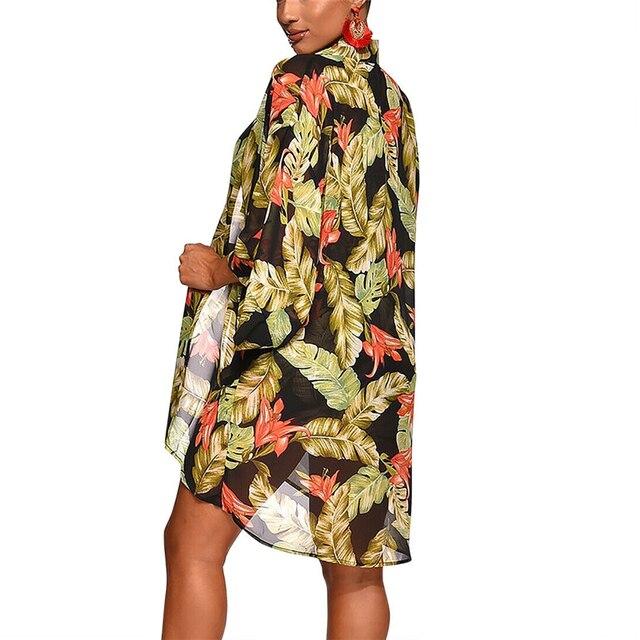 Summer New Women Boho 3Pcs Floral Print Cardigan Blouse+Crop Top+Shorts Lady Holiday Beach Three Pieces Set Casual Shorts Sets 6