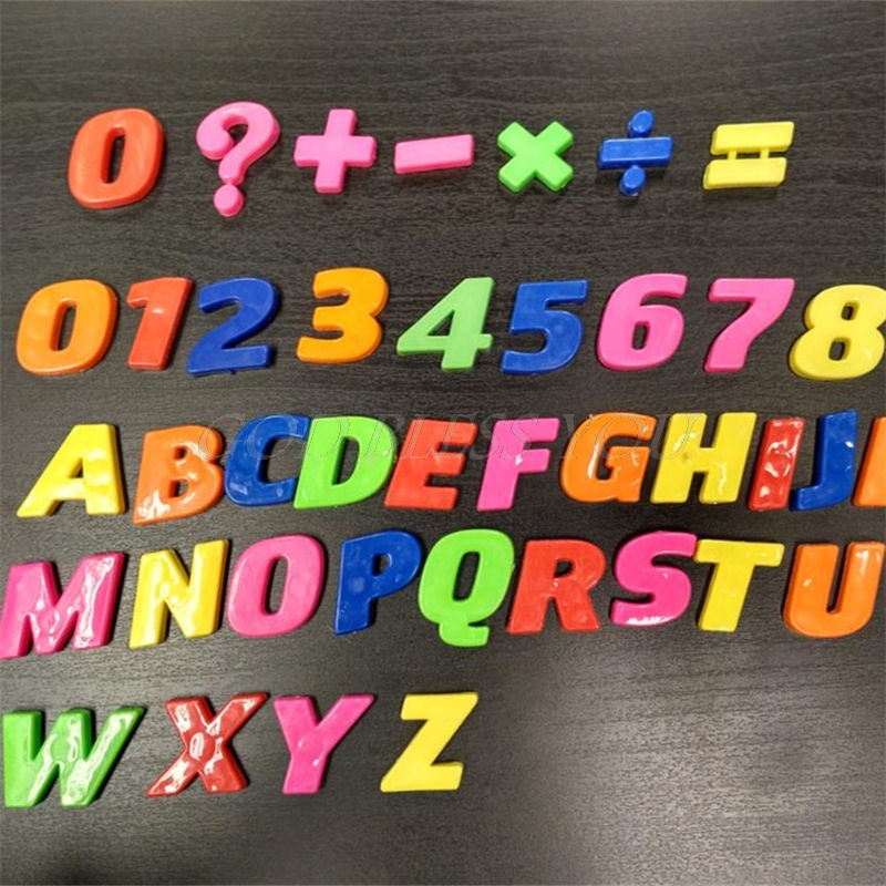 Gift Set Magnets Teaching Alphabet Set Of 42 Colorful Magnetic Fridge Letters & Numbers Education Learn Cute Kid Baby Toy