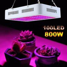 800 Вт Светодиодный светильник для теплицы с двумя чипами, полный спектр, флуоресцентная лампа переменного тока 85-265 в, светильник для выращивания растений, штепсельная вилка европейского стандарта