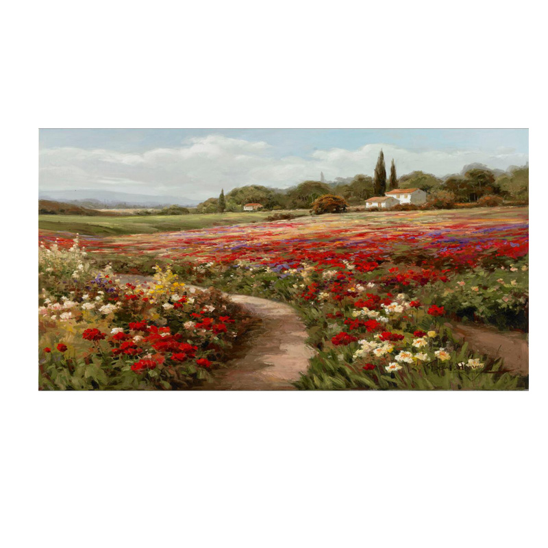 Cotton 90x120cm Claude Monet Poplars Poppy fields Impressionist Canvas Painting Posters and Prints Wall Picture for