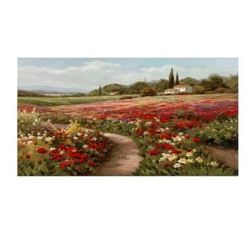 Coton 90x120 cm Claude Monet peupliers champs de coquelicot peinture sur toile impressionniste affiches et impressions photo murale pour salon