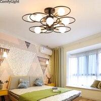 Mordern Nordic led Bulb Light Ceiling Lights Vintage Loft creating E27 Black Iron Art Lamp Fixture Light Living Bed room Attic|Ceiling Lights| |  -