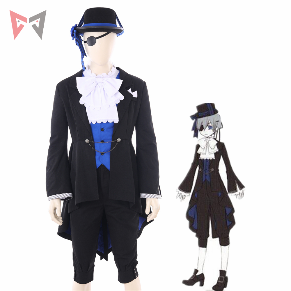 MMGG Black Butler cosplay Ciel Phantomhive cosplay costume new set custom made size