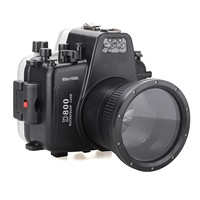 Meikon 40m/130ft Waterproof Underwater Camera Housing Case Diving Equipment for Nikon D800