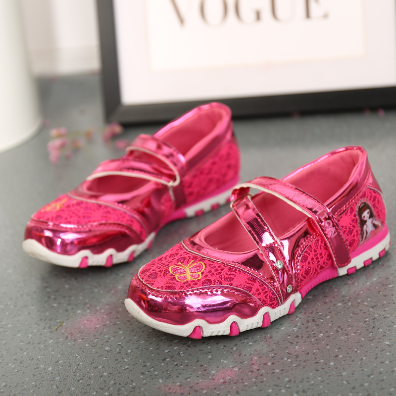 UncleJerry Girls Princess Shoes Cartoon Shoes For Little Girls Kids New Fashion Flat Children Casual Shoes
