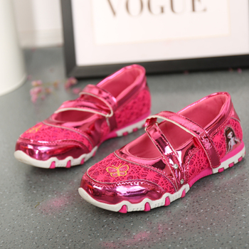 UncleJerry Girls princess shoes Cartoon for little girls Kids New fashion Flat Children Casual