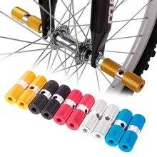 2 шт./лот педаль для велосипеда алюминиевая Нескользящая Передняя Задняя ось подножки BMX подножка рычаг цилиндр Аксессуары для велосипеда