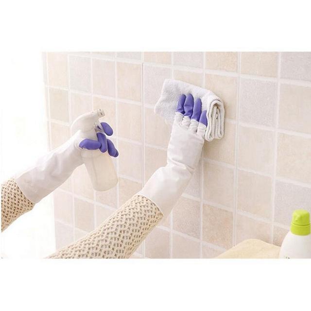 32cm Long Housework PVC Rubber Gloves Dish Washing/Gardening