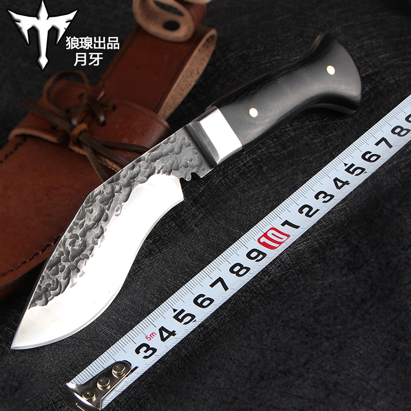 Voltron Outdoor knife hand-forged tactical straight knife wilderness Voltron survival knife hunting knife EDC self-defense hx small mercenary survival hunting knife d2 steel blade fixed blade knife straight camping knives multi tactical hand tools