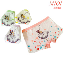 4pcs/set cotton Panties For Girls Kids Short Briefs baby girl underwear, children underwear child cute cartoon shorts Under