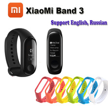 "Original Xiao mi mi banda 3 Rastreador de Fitness Monitor De Freqüência Cardíaca 0.78 ""display oled Touchpad BLUETOOTH 4.2 Para android IOS"