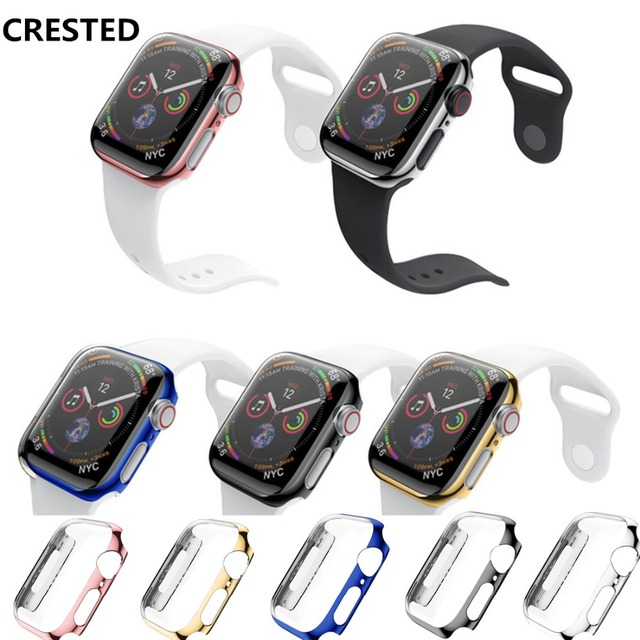 CRESTED cover For Apple Watch band 4 3 Case 42mm 38mm strap iwatch band 44mm/40mm protective screen protector watch Accessories