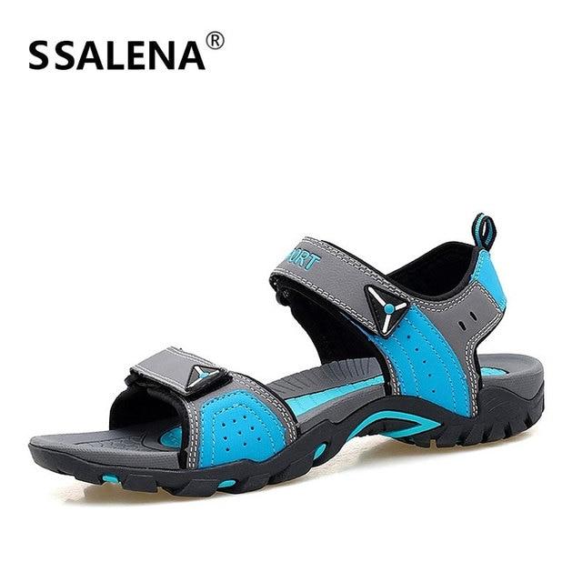 80e8312ba08c13 Sandals Men 2018 Breathable Outdoor Sandals Men Comfortable Summer Open Toe  Shoes Male Beach Anti-slip Quick-Dry Shoes AA20424