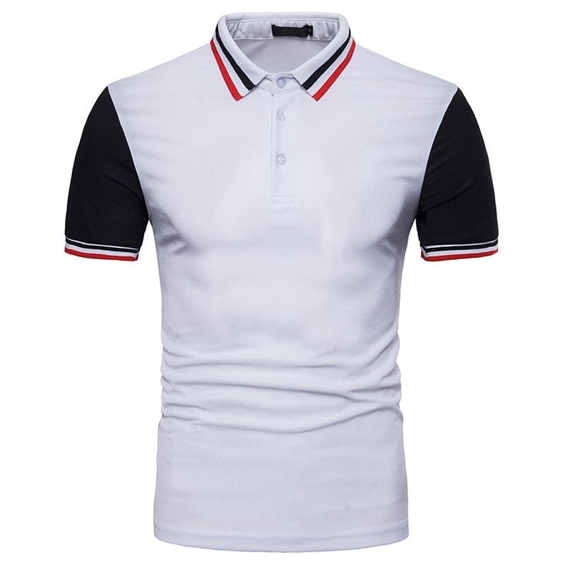 2018 dos homens Novos da Marca Polo Camisa Dos Homens do Algodão camisa de Manga Curta Marcas camisas Camisas Dos Homens camisas polo Plus Size s-XXL