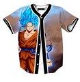 Camisas do basebol jersey anime Super Saiyan Goku impressão 3D camisas dos homens hop shir das mulheres dos homens unisex tops plus size M-3XLt