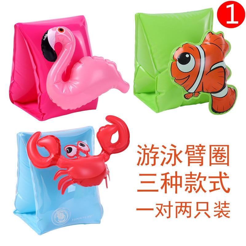 Swimming suit Circle Arm Long Sleeves Children Equipment Baby Thickening Float Pink Unisex Cartoon Animal swimwear in Swimwear from Mother Kids