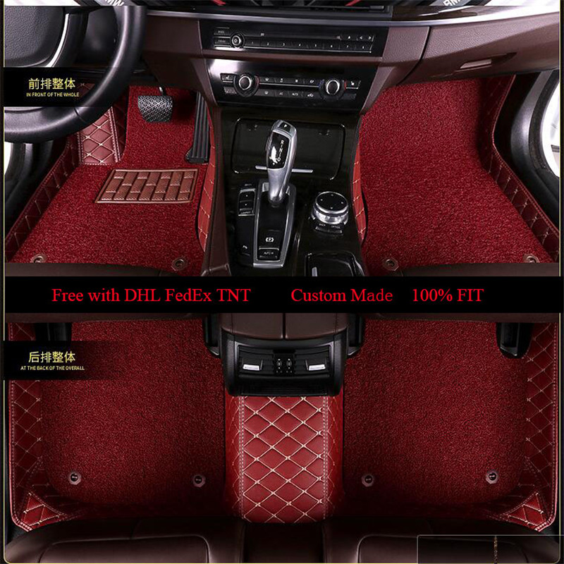 OLPAY Leathe Floor Mat For BMW E30 E34 E36 E39 E46 E60 E90 F10 F30 X1 X3 X4 X5 X6 1/2/3/4/5/6/7 Custom Double Layer Foot Pad