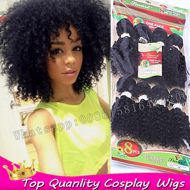 8bundles Crochet Hair Extensions Kinky Curly Real Hair Curly Weave