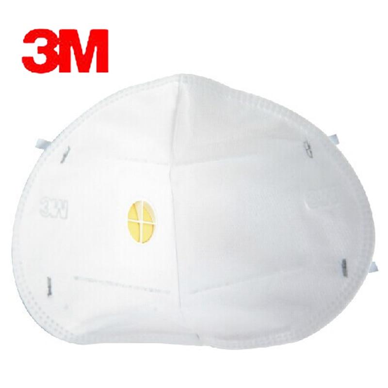 5 adet 3 M 9002 V Anti toz PM 2.5 Maske Anti grip Solunum valfi - Güvenlik ve Koruma - Fotoğraf 2