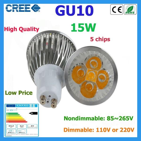 Factory Sale 1pcs Led Bulb Gu10 15w 5 3w Warm White Cold