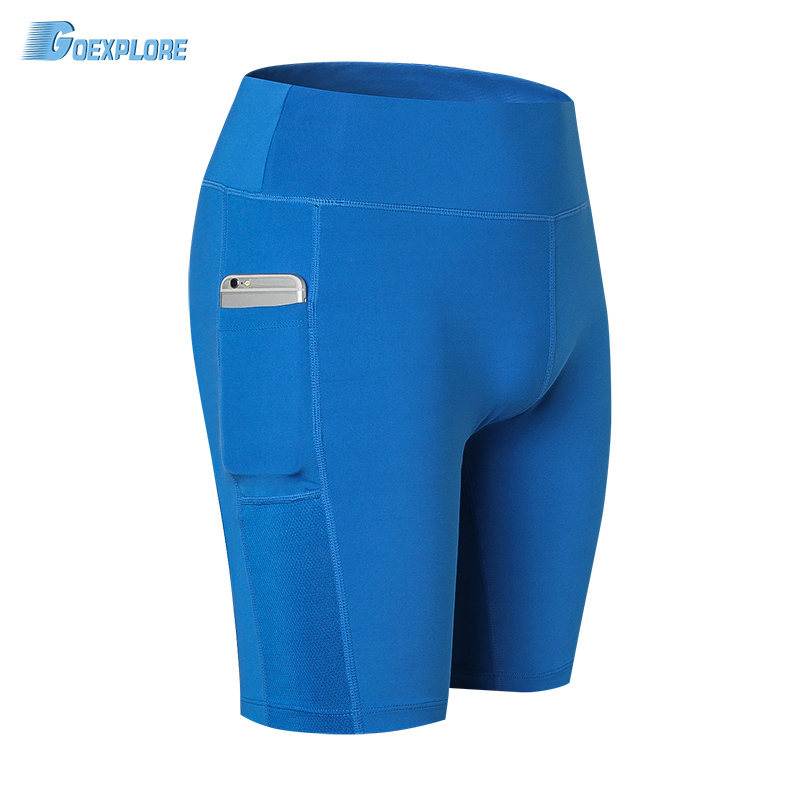 Goexplore Tight Shorts Womens Running Shorts With Pocket Breathable Quick Dry Fitness Yo ...
