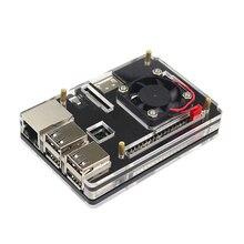 Raspberry Pi 3 акриловый чехол 6 слоев корпус основа коробка + процессора вентилятор охлаждения Совместимость Raspberry Pi 3/2