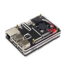 Latest 6 Layer Raspberry Pi Acrylic Case Enclosure Shell Box + CPU Cooling Fan Compatible Raspberry Pi 3/2/B+
