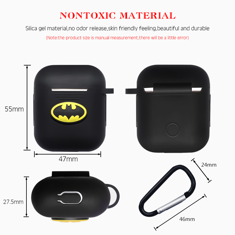 Image 3 - Marvel Wireless Bluetooth Earphone Case For Apple AirPods Charging Headphones Protection Cases Cover Charging Box Accessories-in Earphone Accessories from Consumer Electronics