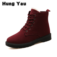 Hung Yau Fashion Warm Snow Boots Calzado Mujer Winter Boots Women Sapato Feminino Women Ankle Boots