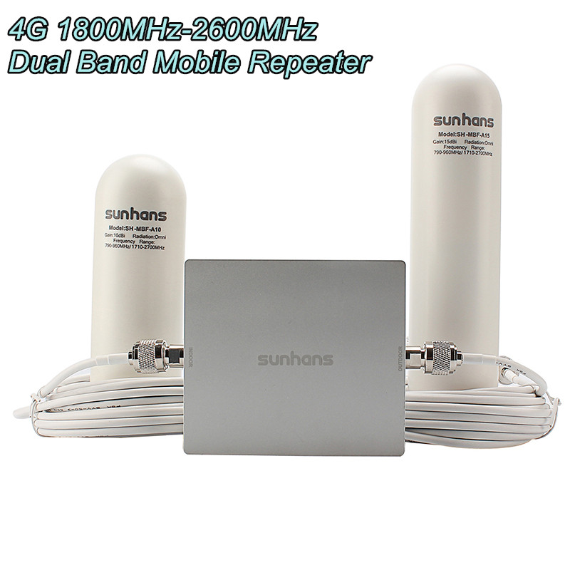 Original Sunhans SH-D18L26-D2 4G 1800MHz-2600MHz Dual Band Mobile Phone Glass Steel Antenna Repeater Signal Booster Amplifier