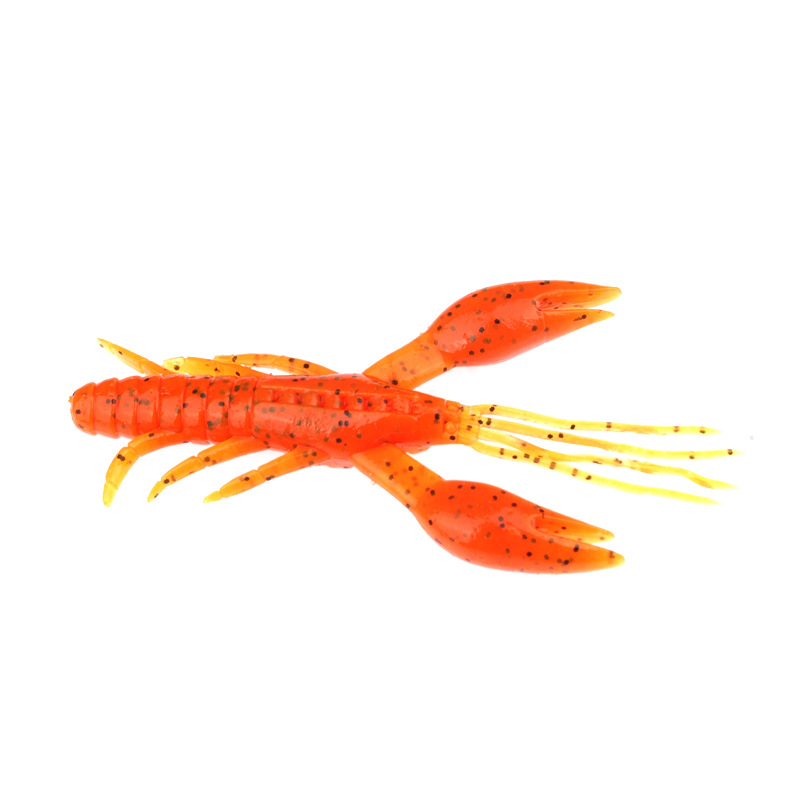 20pcs Shrimp Fishing Lures Soft Baits Artificial Plastic Tackles Gear Lots Pack 45mm 2.1g Jig Bass Cod Wobblers Silicone-in Fishing Lures from Sports & Entertainment
