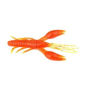 Image 1 - 20pcs שרימפס דיג פתיונות רך פיתיונות מלאכותי פלסטיק ציוד ציוד הרבה חבילה 45mm 2.1g לנענע בס Cod wobblers סיליקון