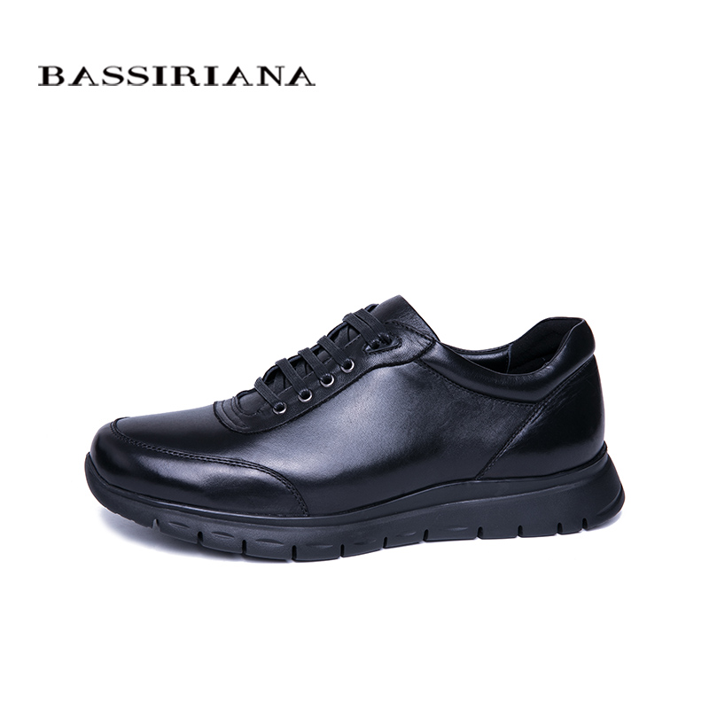 Bassiriana Gratis Cuero Otoño Negro De Primavera Black Natural Encaje Nuevos Casuales Los Envío Hombres Zapatillas Deporte rU0r6w