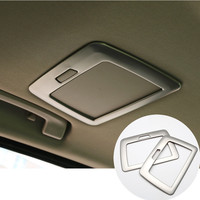 For BMW 7 Series F01 Inner Rear Make Up Mirror Light Cover Trim 2010 2015 2pcs
