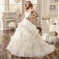 Халат де mariage платье-линии свадебное платье свадебное платье милая часовня поезд свадебные платья Vestidos де boda невесты платья