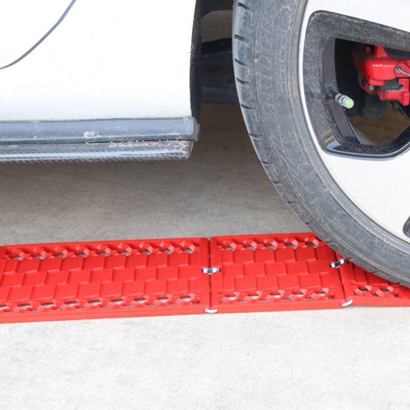 2 pièces pliable voiture neige chaînes boue pneus tapis de Traction roue chaîne antidérapant pistes Auto route revirement outil Anti glisse pistes