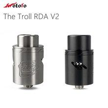 100% Original Wotofo Troll RDA V2 Atomizer The Troll V2 Tank 510 Pin Electronic Cigarette Atomzier