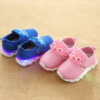 2018 Cute Lovely Girls Boys Shoes Patch Shinning LED Lighted Baby Toddlers Hot Sales Unisex Baby