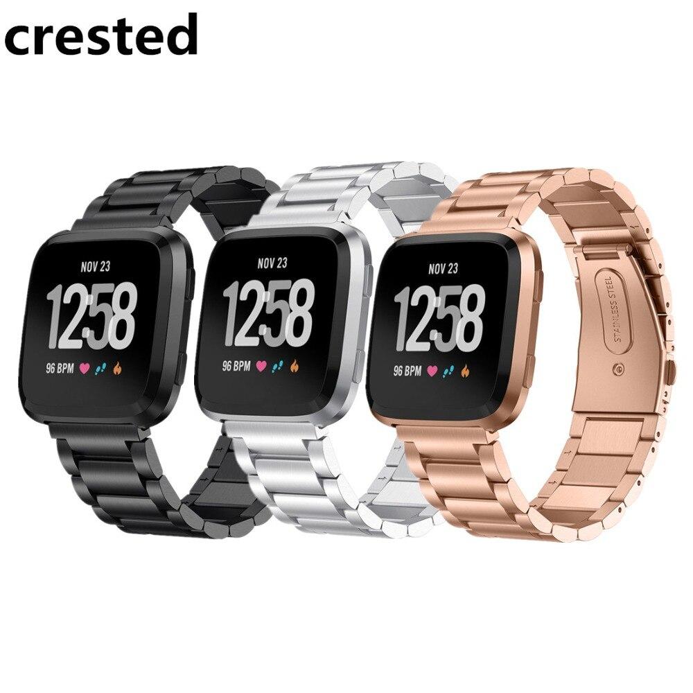 CRESTED Edelstahl uhrenarmbänder Für Fitbit Versa band Armband-Armband Armband Armband gürtel Für Fitbit Versa straps correa