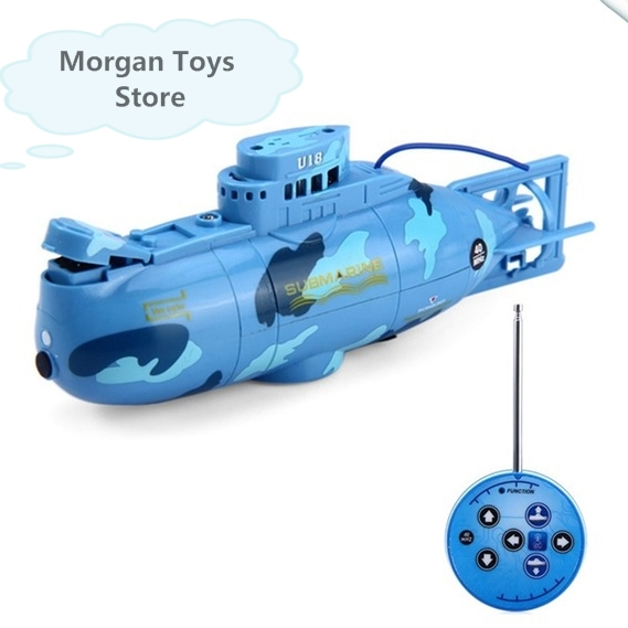 Hot Sale Mini RC Submarine 3CH Remote Control Toy With USB Cable Blue Yellow Children Kids Toy Gift Free Shipping