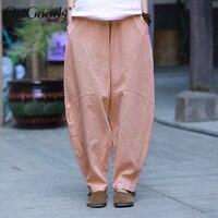 OriGoods Original Novelty Harem Pants Women Plus size Loose Harem Trousers Women New Cotton Linen Vintage Summer Pants C221