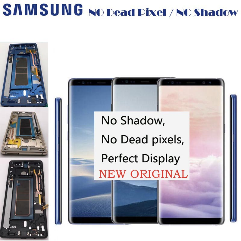 2960 1440 6 3 ORIGINAL LCDs Display For Samsung Galaxy Note 8 Note8 N950 N950FD N950U