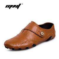 Fashion British Style Men Causal Shoes Genuine Leather Slip On Men Shoes High Quality Outdoor Shoes