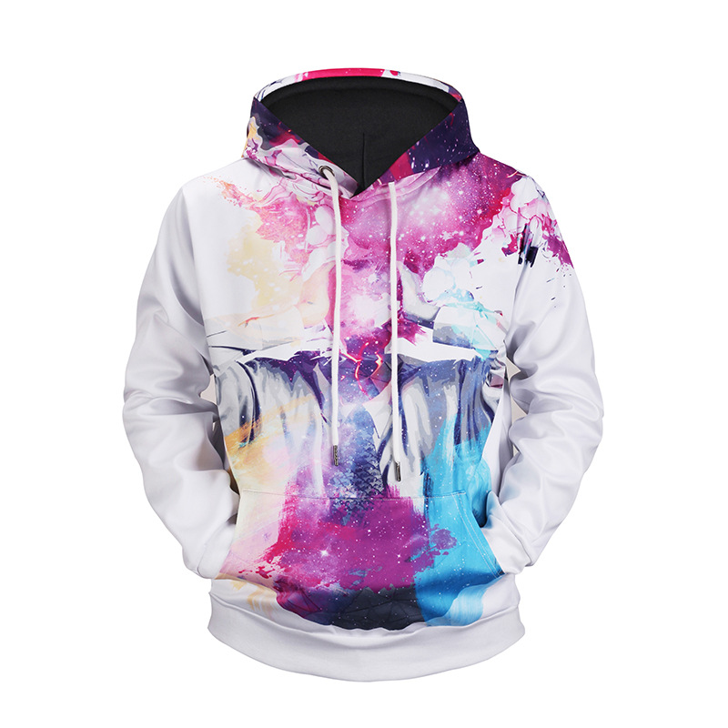 Cosplay font b Hoodies b font new abstract thinker Star printing hooded 3D font b sweater