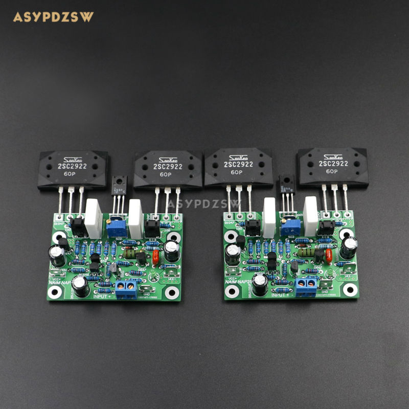 New 2 PCS NAIM NAP250 MOD 2SCS2922 MINI Stereo 2 channel Power amplifier finished board finished 2 0 channel ncc200 power amplifier board base on uk naim nap250 135 amp